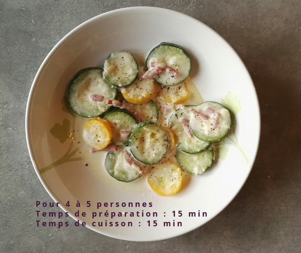 Courgettes carbo